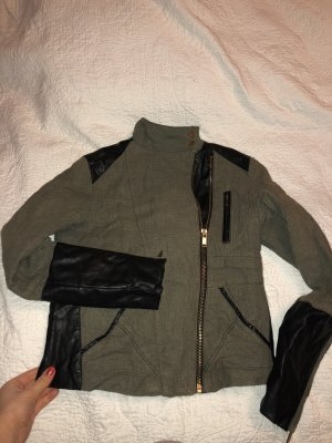 Zara Bomberjack khaki-zwart