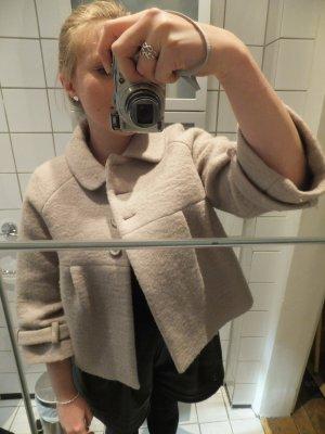 Zara Jacke 50ies XL wie 40 Nude Creme Babydoll Bubikragen