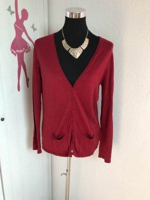 Zara Veste chemise rouge carmin
