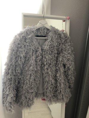 Zara Basic Giacca taglie forti argento-grigio chiaro