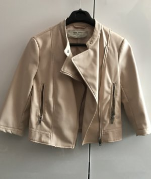 Zara Jacke aus Lederimitat, Größe xs