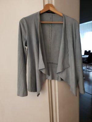 Zara Basic Veste gris ardoise-gris vert