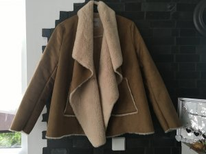 Zara Trafaluc Fake Fur Jacket multicolored