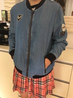 Zara Giacca bomber grigio ardesia-blu fiordaliso