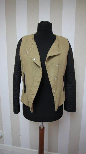 Zara Biker Jacket black-sand brown