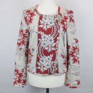 ZARA Jacke Gr. S Blumen Muster rot/beige