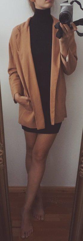 ZARA Jacke Herbst Übergangsjacke nude hellorange oversized Blogger S NEU