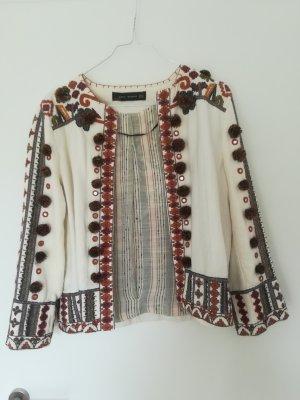 Zara Jacke im Bohemian Stil