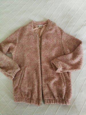 Zara Veste en tricot vieux rose-rosé
