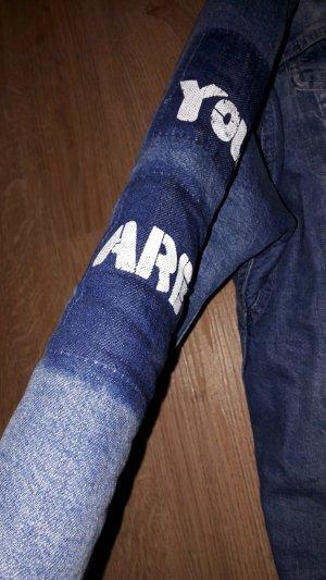 zara jacke lange gefütterte jeans jacke