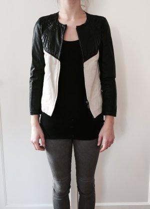 Zara Bikerjack zwart-wit
