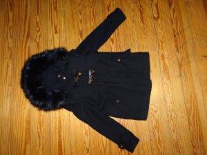 Zara Jacke/Mantel mit Fellkragen (kein Echtfell)