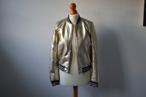 Zara Jacke metallic Gold