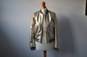Zara Jacke metallic Gold