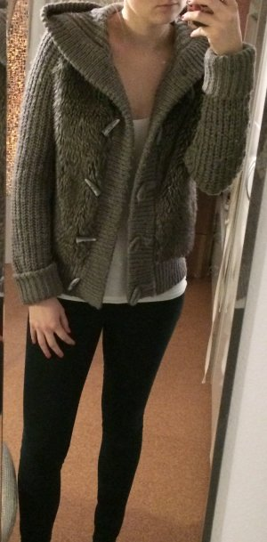 Zara Jacke mit Fellbesatz
