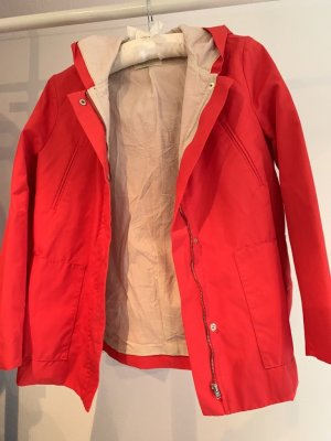 Zara Raincoat red