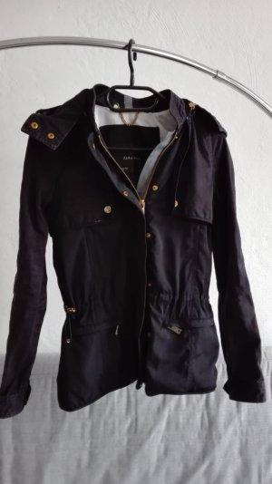 Zara Jacke Übergangsjacke leicht XS 34 blau gold
