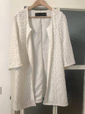 Zara Veste longue blanc
