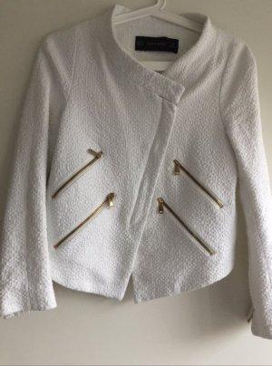 Zara Veste blanc-doré