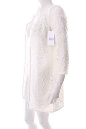 Zara Jacke weiß florales Muster Romantik-Look