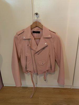 Zara Basic Giacca da motociclista rosa