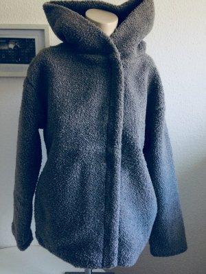 Zara Veste argenté tissu mixte
