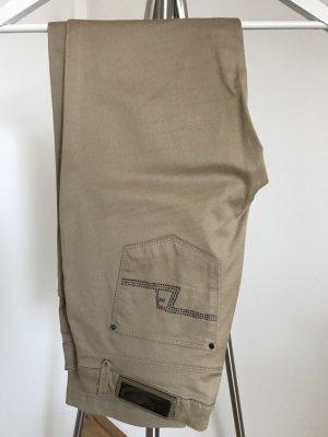 Zara Woman Pantalón de cinco bolsillos beige