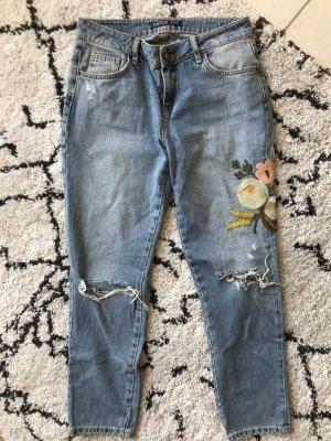 Zara Jeans a vita alta multicolore