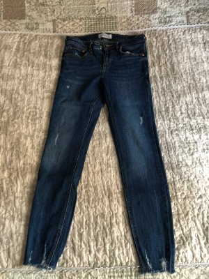Zara Low Rise Jeans dark blue