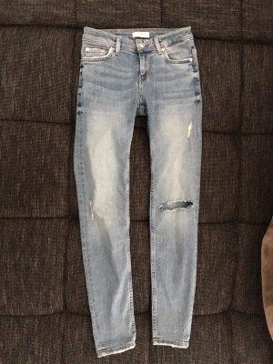 Zara Jeans 34 XS Blau Ripped Skinny
