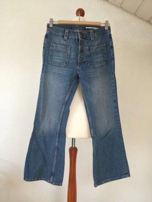 ZARA Jeans 34 XS Blue Jeans Bootcut 70er High Waist