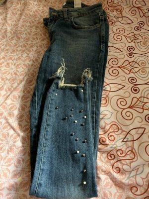 Zara Jeans skinny bleu foncé