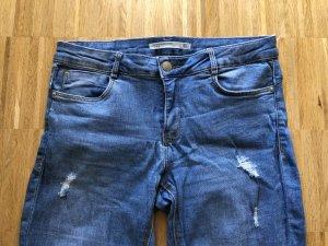 Zara Jeans 40 L blau mit rissen skinny