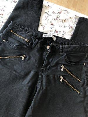 Zara Low Rise Jeans black-bronze-colored