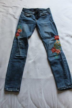 Zara Slim jeans staalblauw