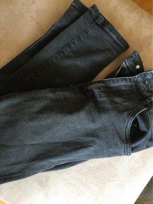Zara Hoge taille jeans zwart-grijs