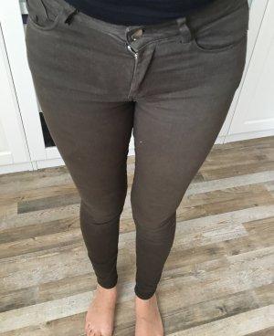 Zara Tube jeans khaki-groen-grijs