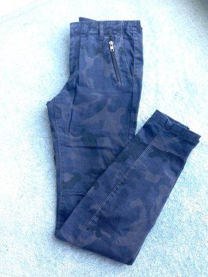 Zara Jeans blau/grau Camouflage Größe 36 schmal geschnitten