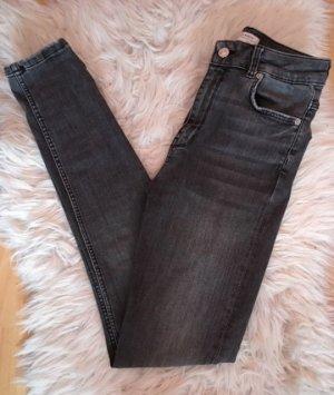 Zara Hoge taille jeans grijs