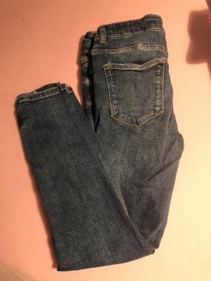 Zara Basic Low Rise Jeans dark blue