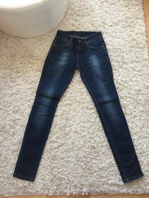 Zara Jeans cigarette bleu acier