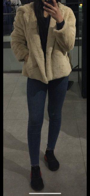 Zara Pantalón de cintura alta azul acero