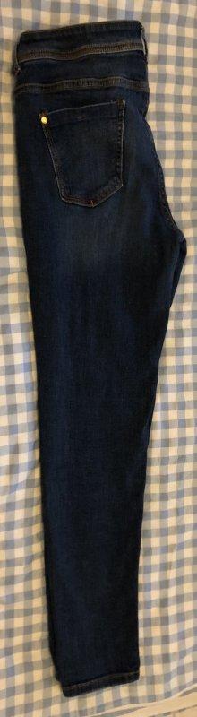 Zara Jeans carotte bleu foncé