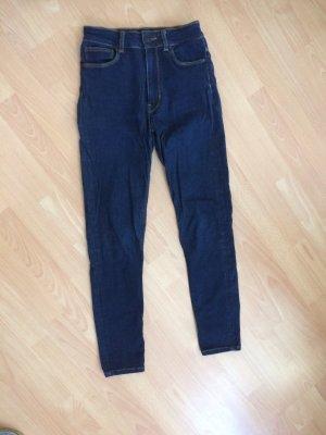 Zara Jeans dunkelblau Skinny high waste croped