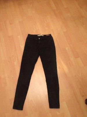 Zara Jeans dunkelgrau schwarz meliert