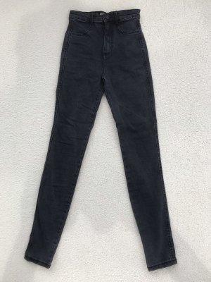 Zara Trafaluc Hoge taille jeans donkergrijs