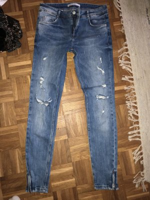 Zara Jeans Flicken used look Gr 38