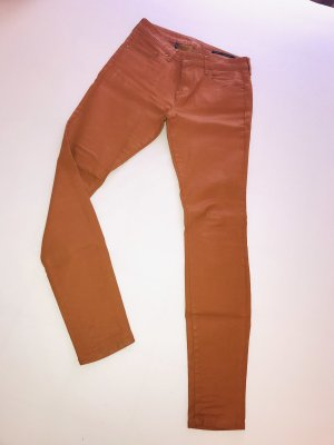 Zara Jeans a gamba dritta arancione scuro