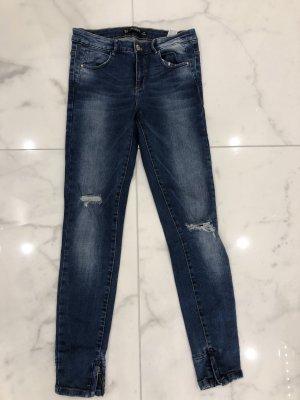 Zara Tube Jeans dark blue