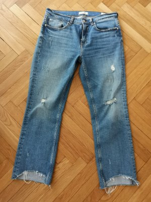 Zara Jeans Gr 40 Cropped Jeans